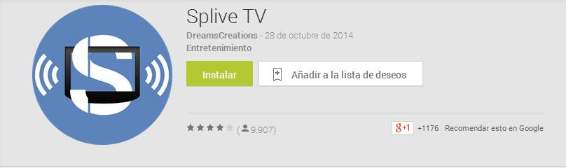 descargar splive tv google-play